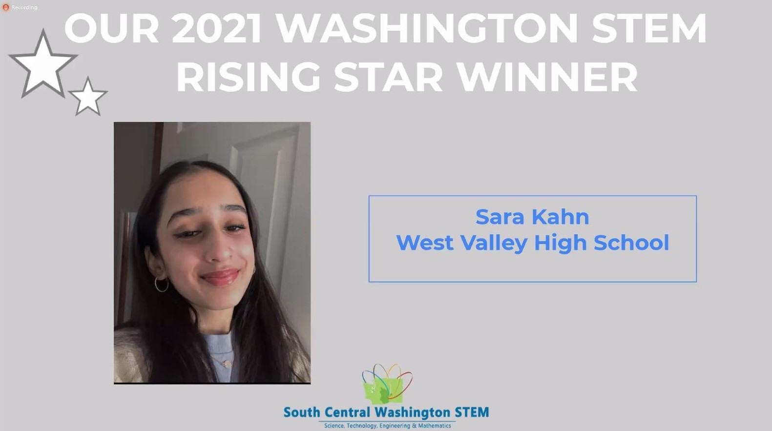 Sara Khan Award Winner